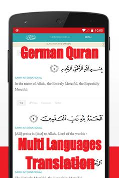 Quran mp3 german translation poster