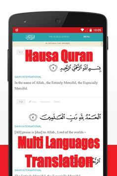 Quran mp3 Hausa translation poster