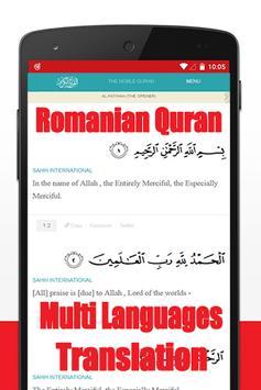 Al Quran Romanian Translation poster