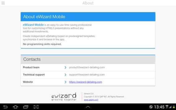 eWizard Mobile apk screenshot