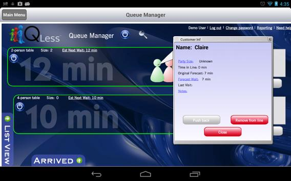 QLess Manager apk screenshot