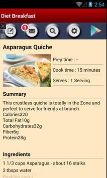 Diet Breakfast Recipes apk screenshot