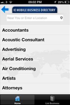 IE Mobile Business Directory apk screenshot