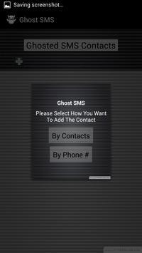 Ghost SMS apk screenshot