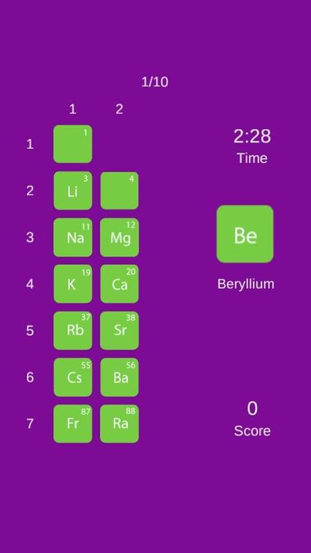 periodic table quiz game apk download free educational game for android. Black Bedroom Furniture Sets. Home Design Ideas