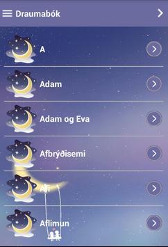 Draumabók Islandsk apk screenshot