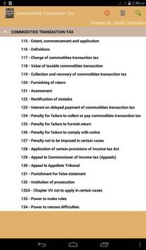 Commodities Transaction Tax apk screenshot