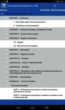 Company Secretaries Act 1980 apk screenshot