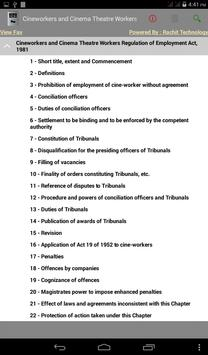 Cineworkers Act, 1981 apk screenshot