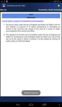 Criminal Law Act 1967 apk screenshot