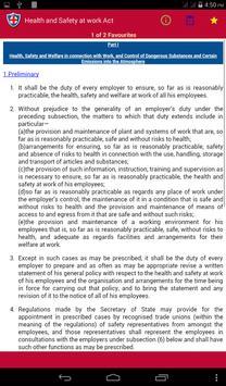 Health and Safety at work Act apk screenshot