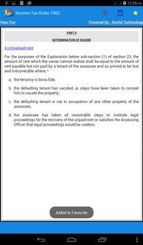 Income Tax Rules 1962 apk screenshot