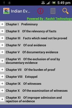 IEA - Indian Evidence Act 1872 poster