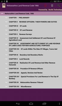Maharashtra Land Revenue Code poster