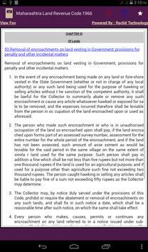Maharashtra Land Revenue Code apk screenshot