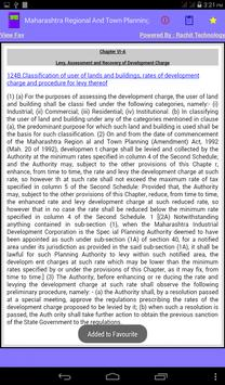 Maharashtra Town Planning Act apk screenshot
