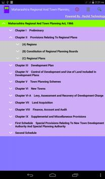 Maharashtra Town Planning Act poster