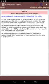 Narcotic Drugs Act 1985 apk screenshot
