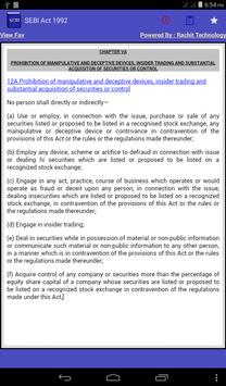 SEBI Act 1992 apk screenshot