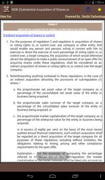 SEBI Takeovers Regulations apk screenshot