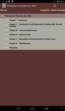 Prevention of Terrorism Act apk screenshot