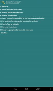 Right To Education Act 2010 apk screenshot
