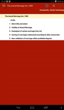 The Anand Marriage Act 1909 apk screenshot