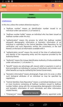 India - The Aadhaar Act 2016 apk screenshot