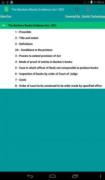 The Bankers Books Evidence Act apk screenshot