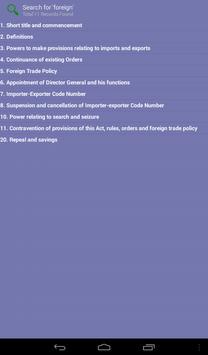 The Foreign Trade Act 1992 apk screenshot