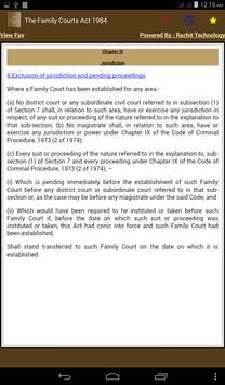 The Family Courts Act 1984 apk screenshot