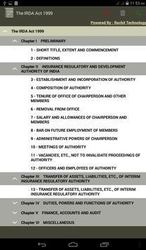 The IRDA Act 1999 apk screenshot
