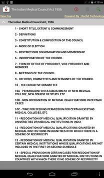 The Indian Medical Council Act apk screenshot