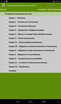 The National Food Security Act poster