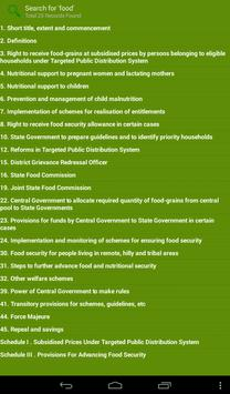 The National Food Security Act apk screenshot