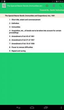 Special Bearer Bonds Act 1981 poster