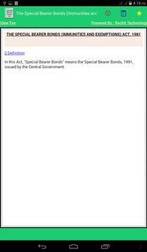 Special Bearer Bonds Act 1981 apk screenshot