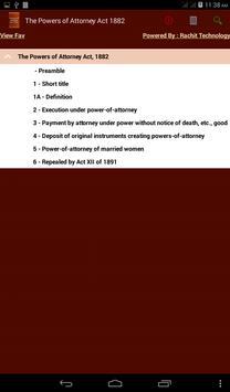 Powers of Attorney Act 1882 apk screenshot