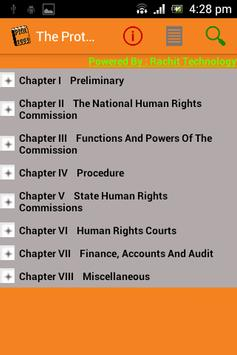 Protection of Human Rights apk screenshot