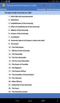 Rajiv Gandhi UniversityAct2006 poster