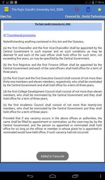 Rajiv Gandhi UniversityAct2006 apk screenshot