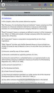 The Reserve Bank of India Act apk screenshot