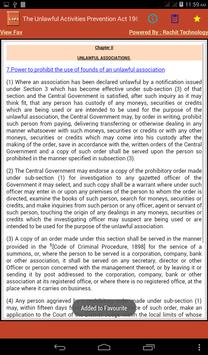 Unlawful Activities Act 1967 apk screenshot