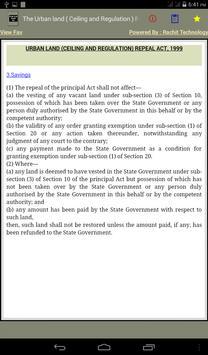 The Urban land Repeal Act 1999 apk screenshot