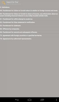 Undisclosed Foreign Income act apk screenshot