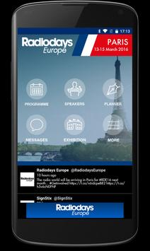 Radiodays Europe poster