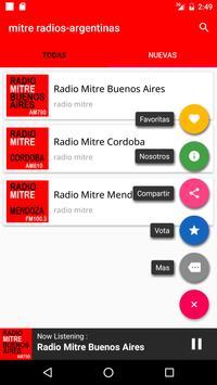 mitre radios argentinas apk screenshot