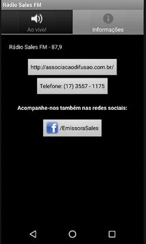 Rádio Sales FM apk screenshot