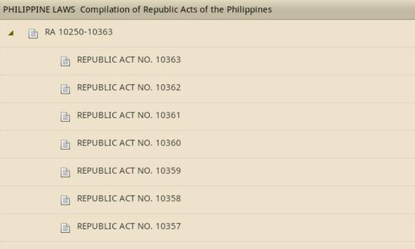 Philippine Laws - Vol. 1 apk screenshot