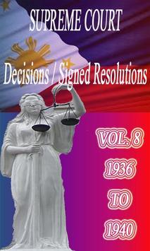 Phil Supreme Court Vol. 8 poster